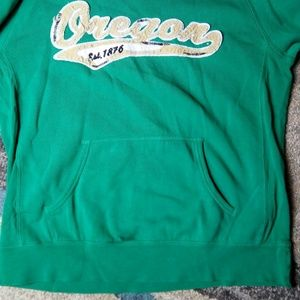 Genuine Tops - Oregon Hoodie Women Size M Green Pullover